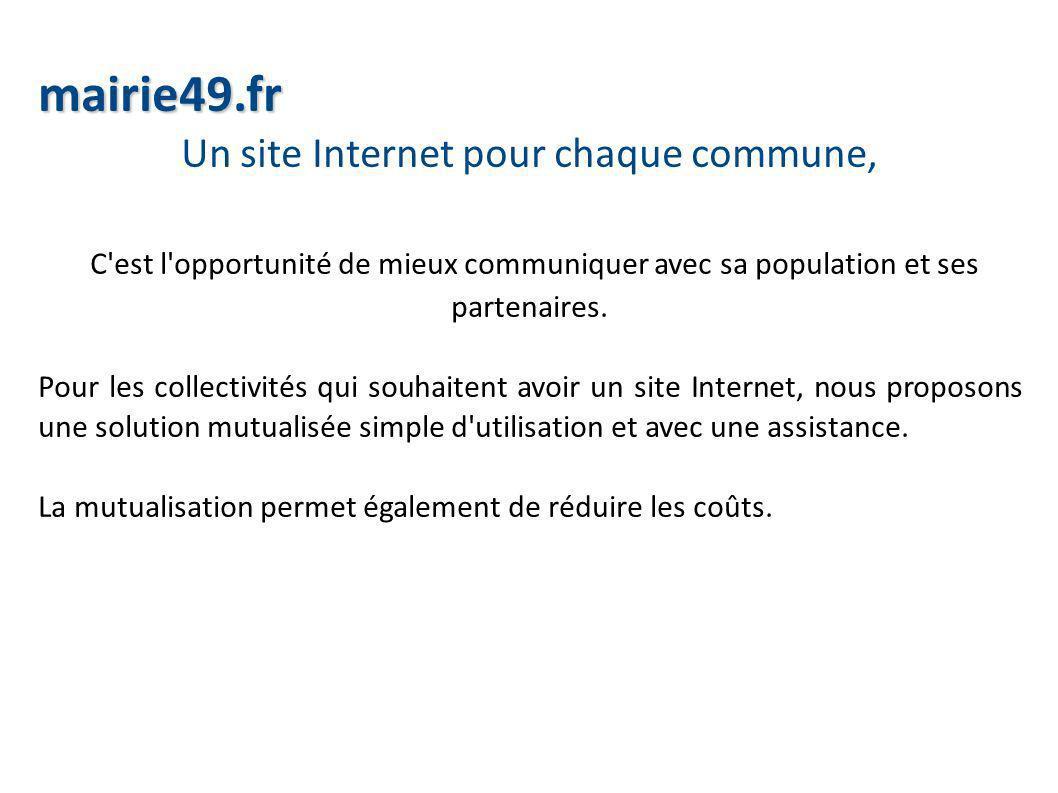 Un site Internet pour chaque commune,