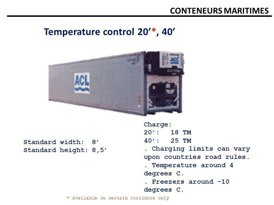 Temperature control 20'*, 40'