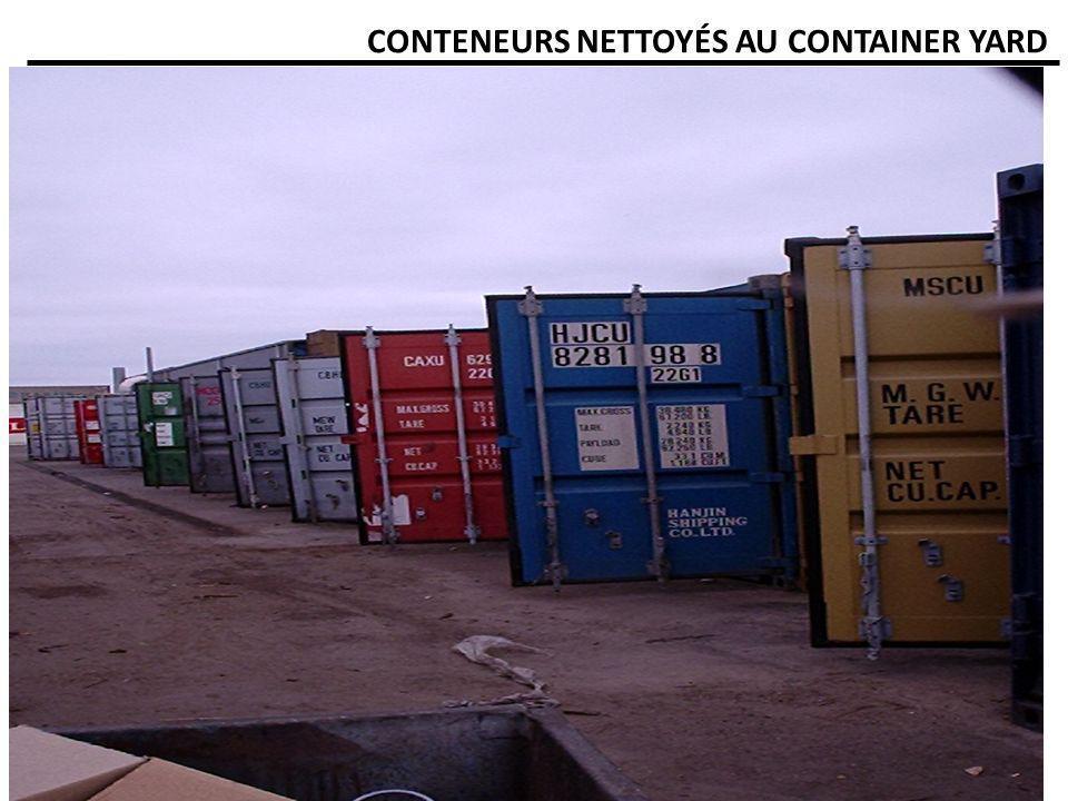 CONTENEURS NETTOYÉS AU CONTAINER YARD
