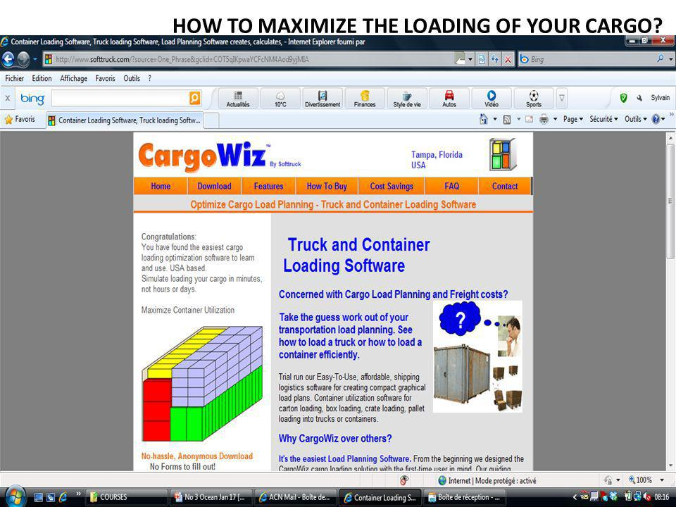 HOW TO MAXIMIZE THE LOADING OF YOUR CARGO