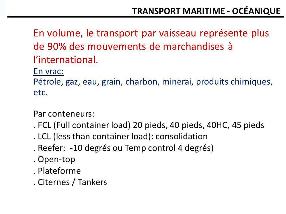 TRANSPORT MARITIME - OCÉANIQUE