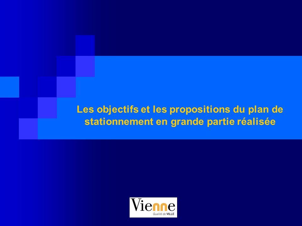 Les objectifs et les propositions du plan de stationnement en grande partie réalisée
