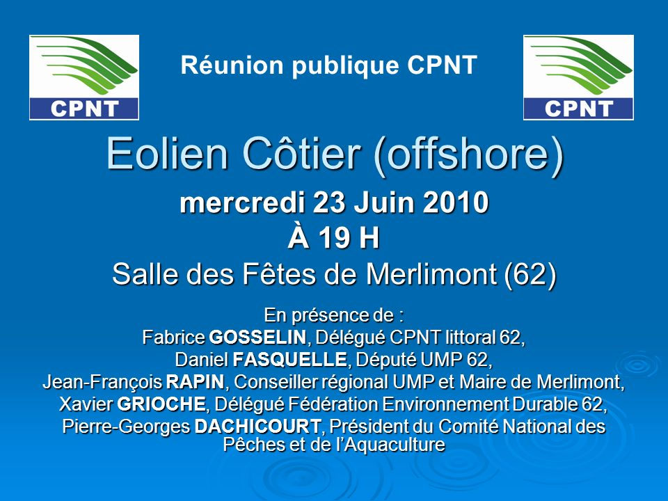 Eolien Côtier (offshore)
