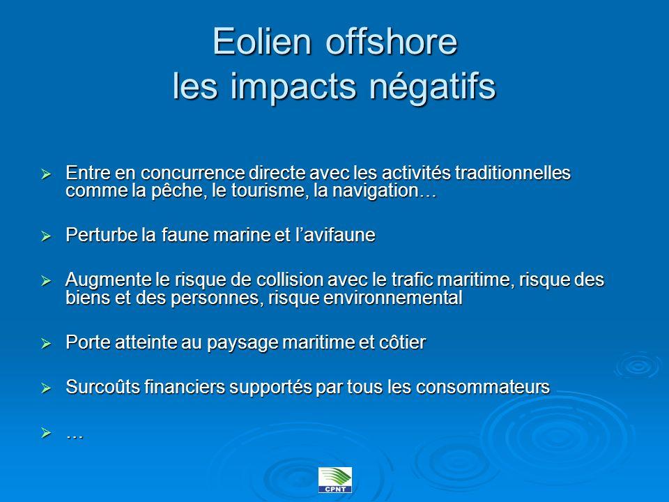 Eolien offshore les impacts négatifs