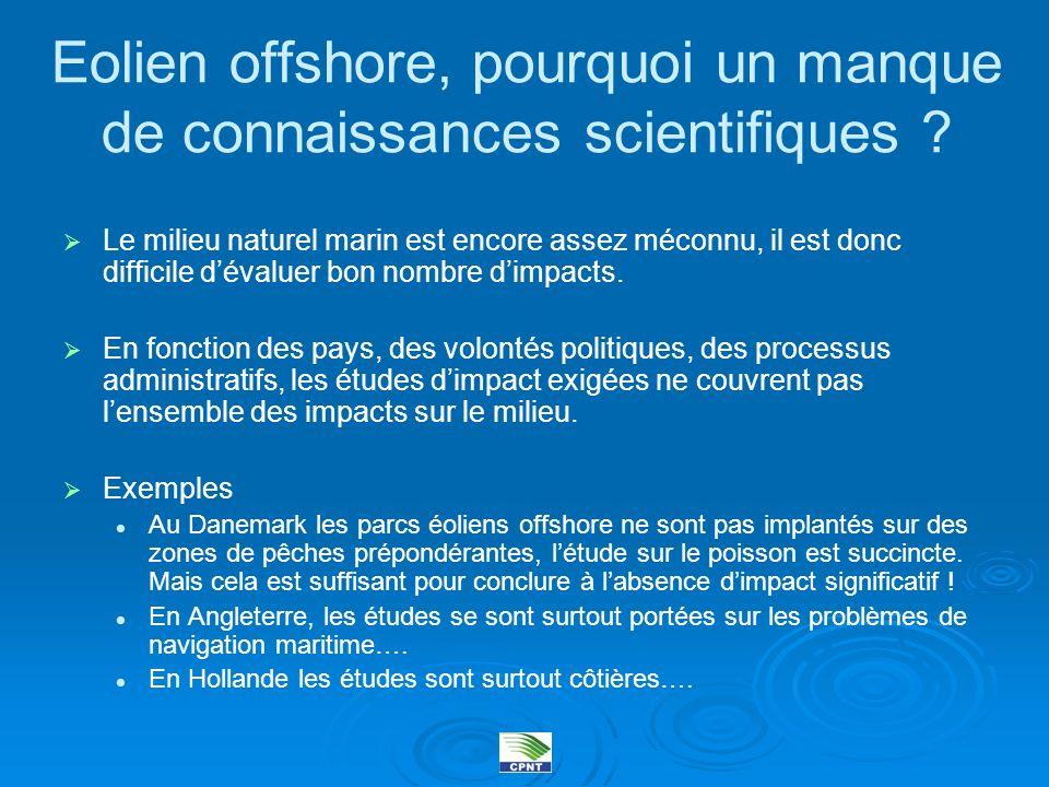 Eolien offshore, pourquoi un manque de connaissances scientifiques