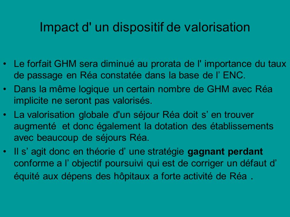 Impact d un dispositif de valorisation