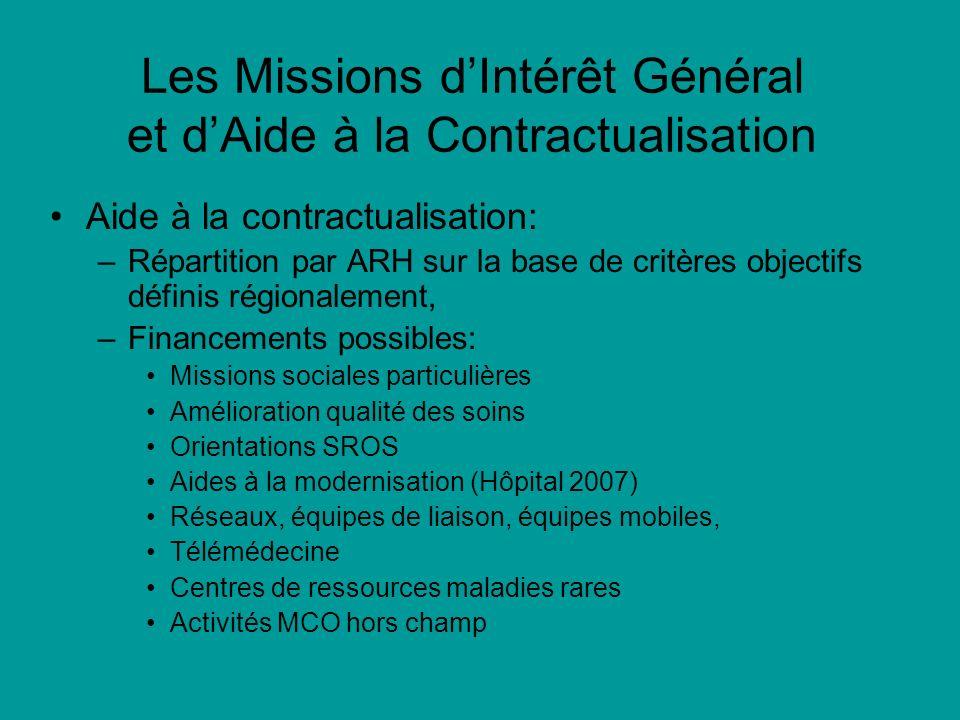 Les Missions d'Intérêt Général et d'Aide à la Contractualisation