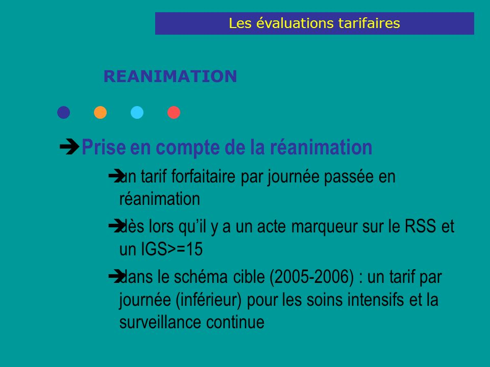 Les évaluations tarifaires