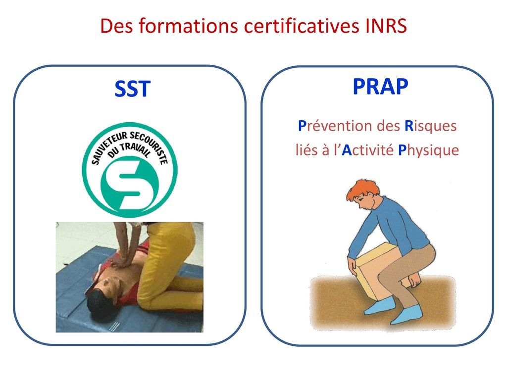 Des formations certificatives INRS
