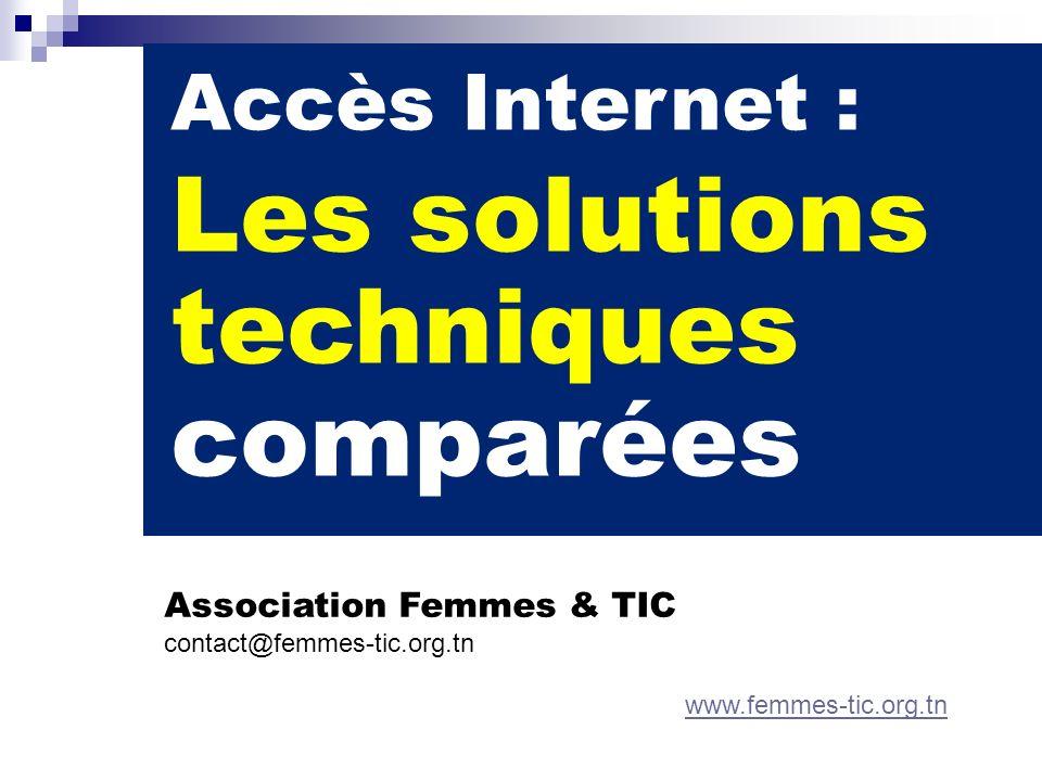 Les solutions techniques comparées Accès Internet :