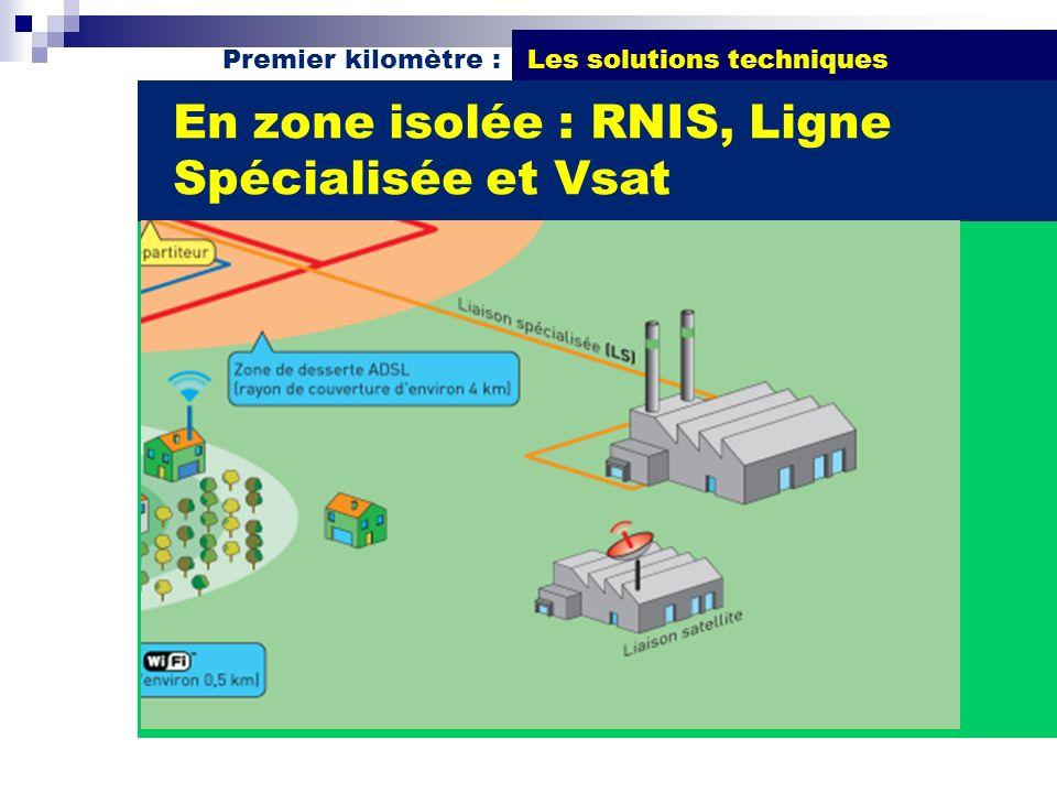 En zone isolée : RNIS, Ligne Spécialisée et Vsat