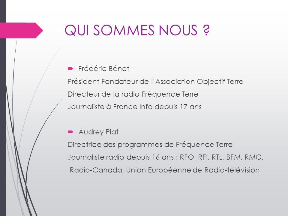 QUI SOMMES NOUS Frédéric Bénot