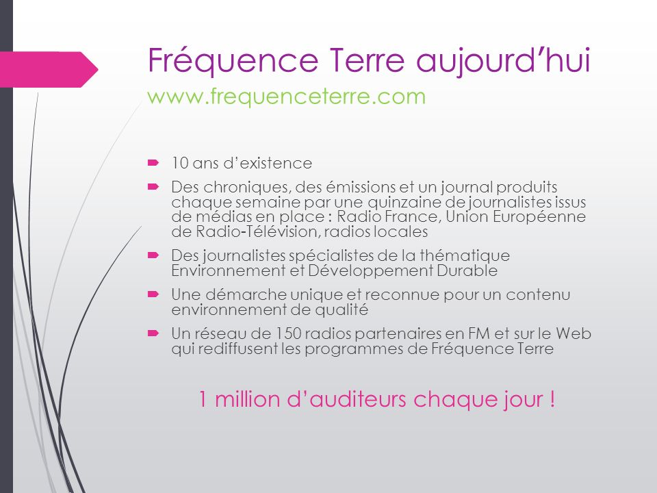 Fréquence Terre aujourd'hui www.frequenceterre.com