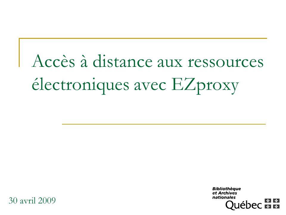 Accès à distance aux ressources électroniques avec EZproxy
