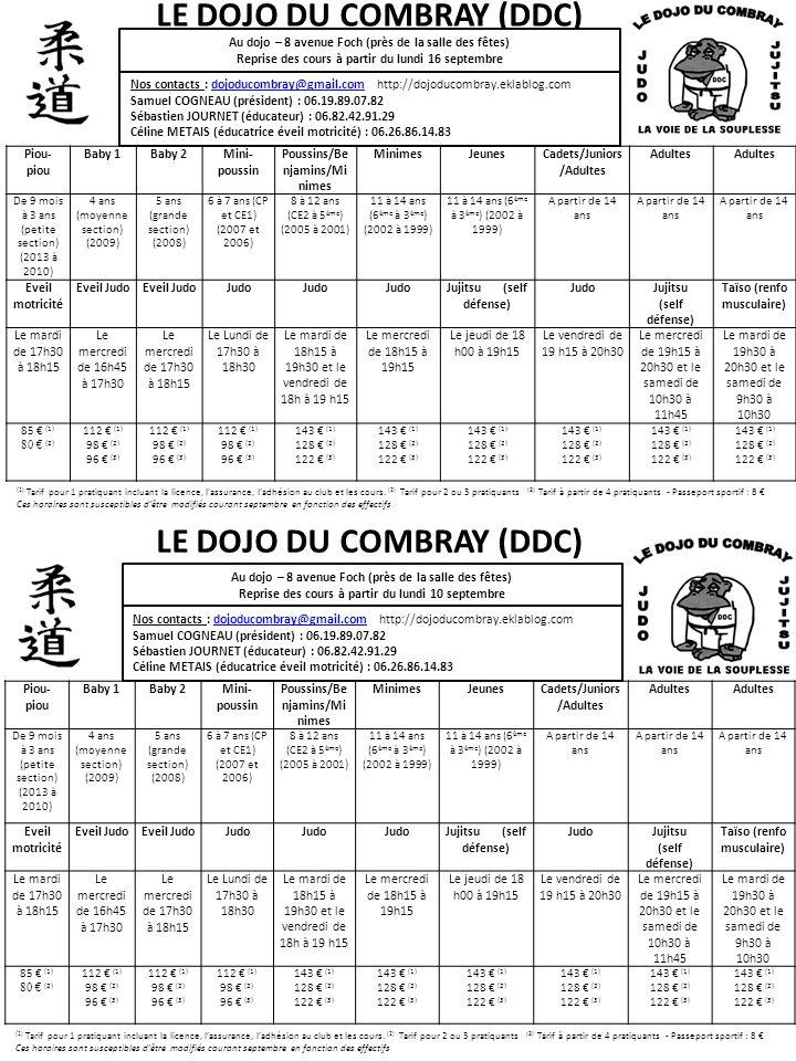 LE DOJO DU COMBRAY (DDC) LE DOJO DU COMBRAY (DDC)