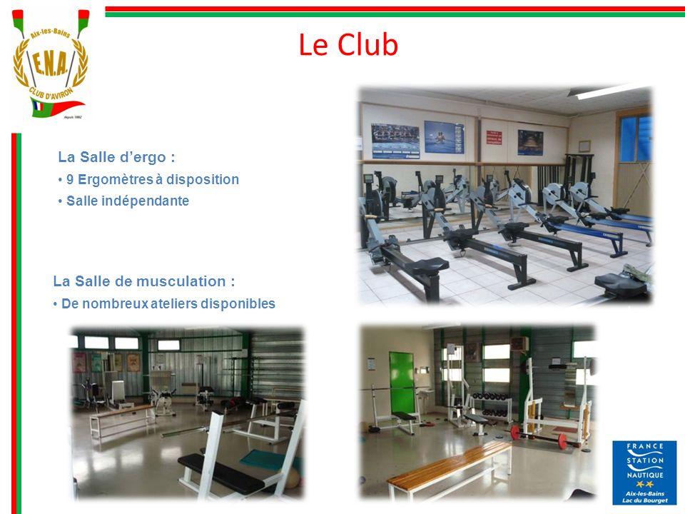 Le Club La Salle d'ergo : La Salle de musculation :