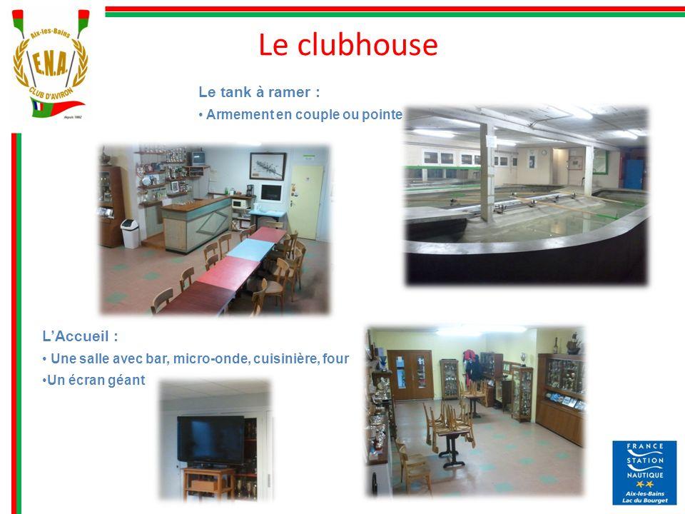 Le clubhouse Le tank à ramer : L'Accueil :