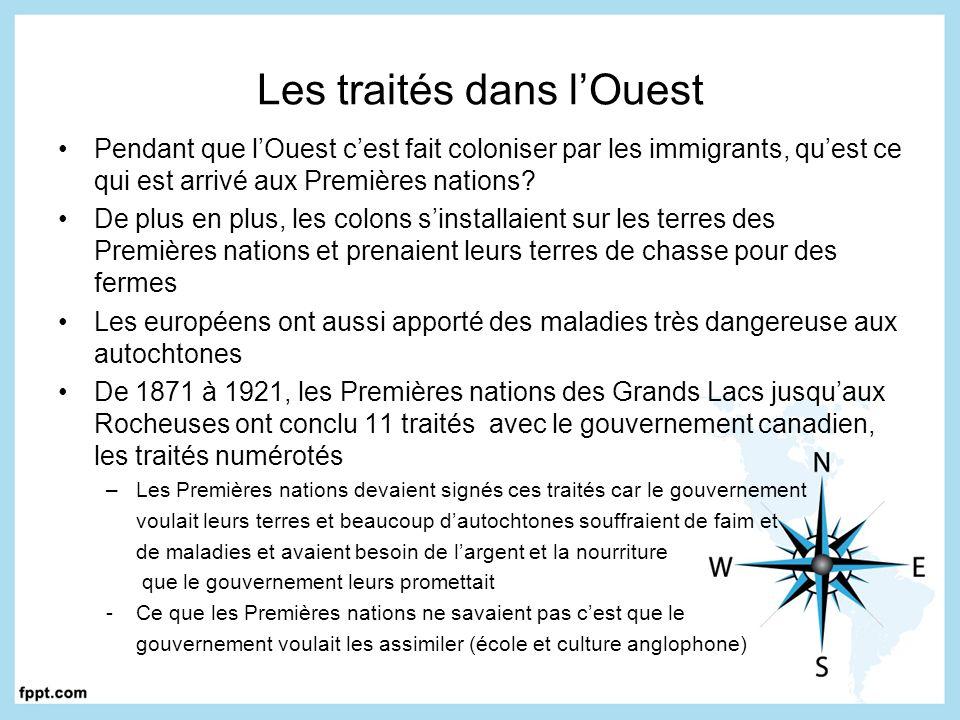 Les traités dans l'Ouest