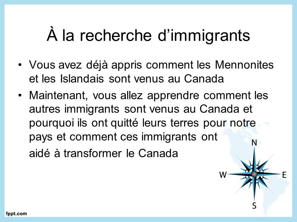 À la recherche d'immigrants