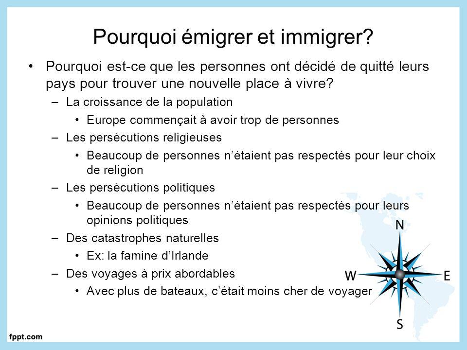 Pourquoi émigrer et immigrer