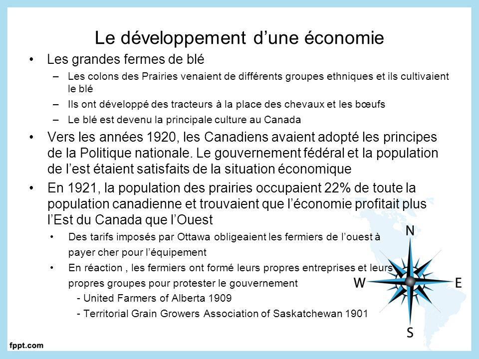 Le développement d'une économie