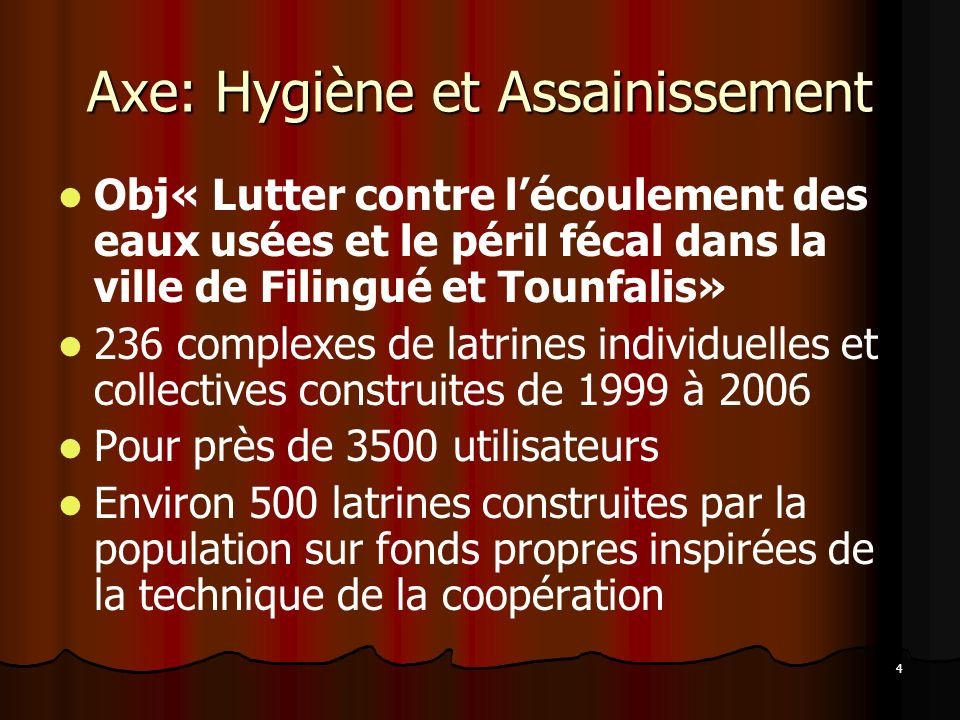 Axe: Hygiène et Assainissement