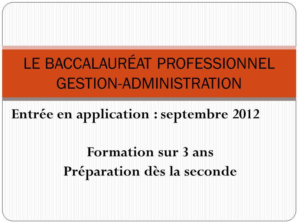 LE BACCALAURÉAT PROFESSIONNEL GESTION-ADMINISTRATION