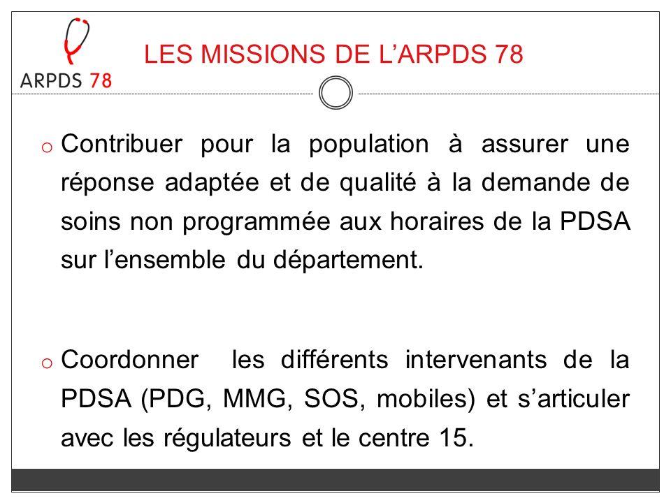 LES MISSIONS DE L'ARPDS 78