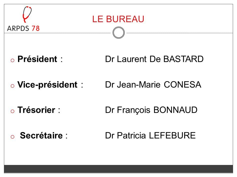 LE BUREAU Président : Dr Laurent De BASTARD