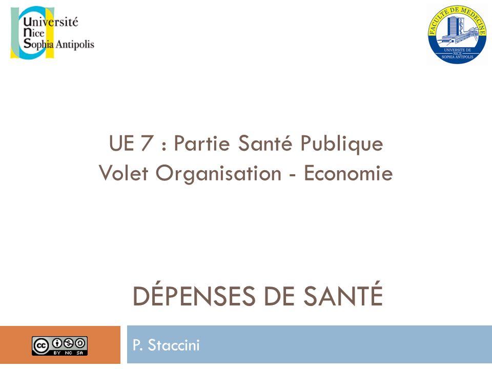 Dépenses de santé UE 7 : Partie Santé Publique