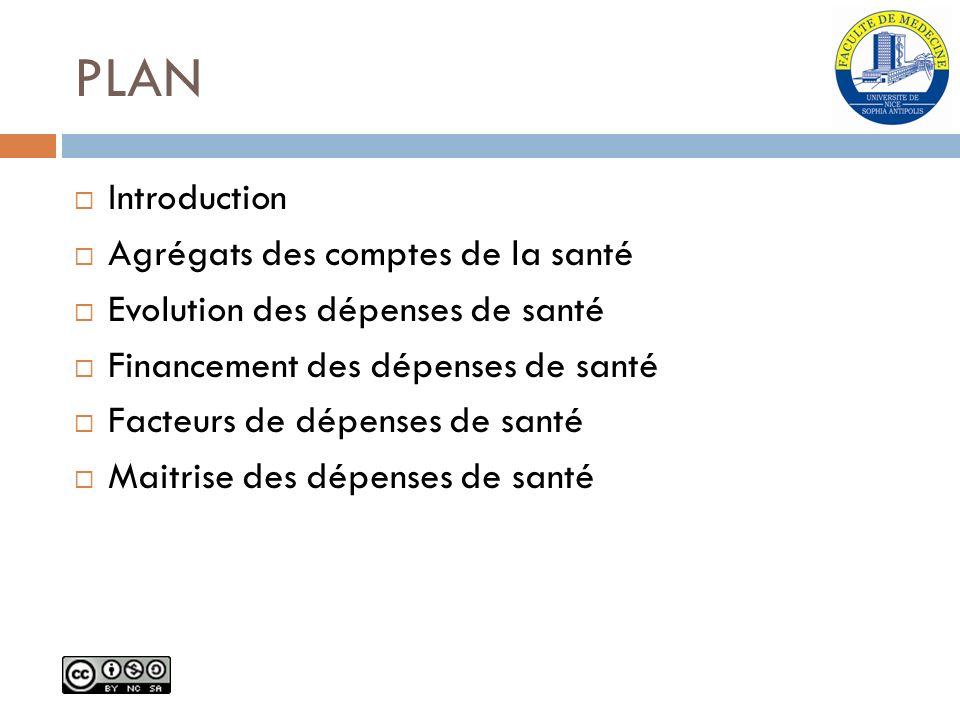 PLAN Introduction Agrégats des comptes de la santé