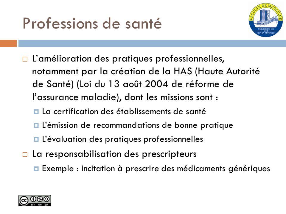 Professions de santé