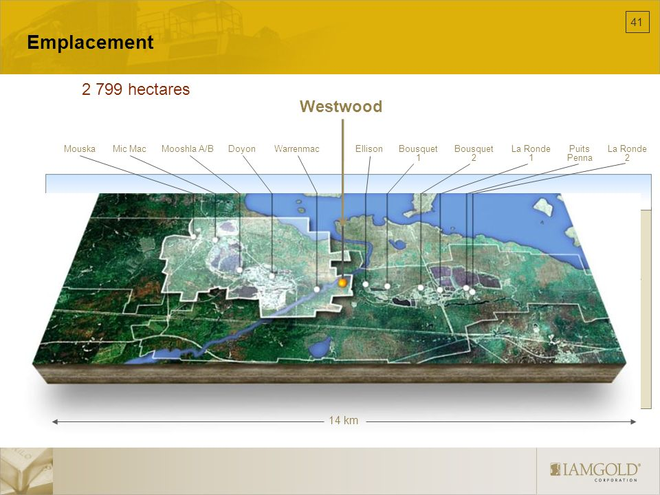 Emplacement 2 799 hectares Westwood