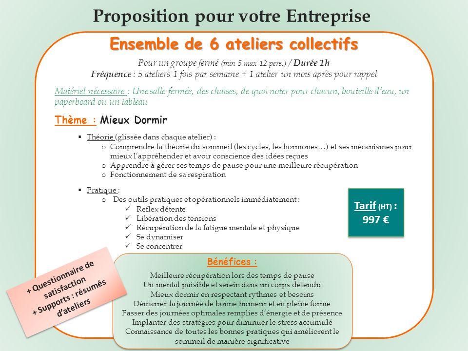 Proposition pour votre Entreprise
