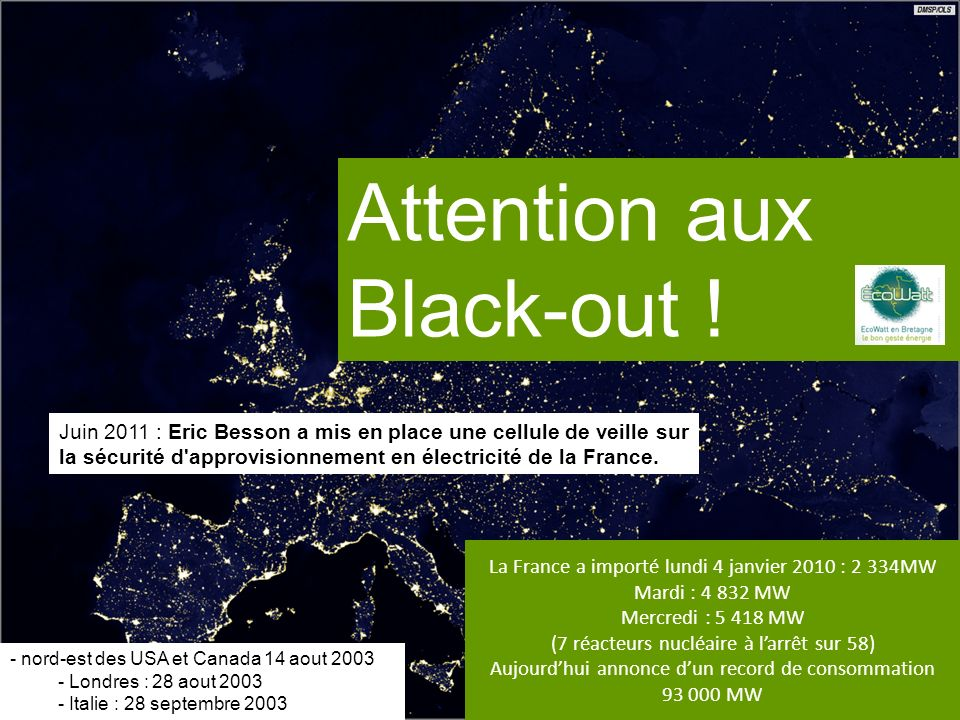 Attention aux Black-out !