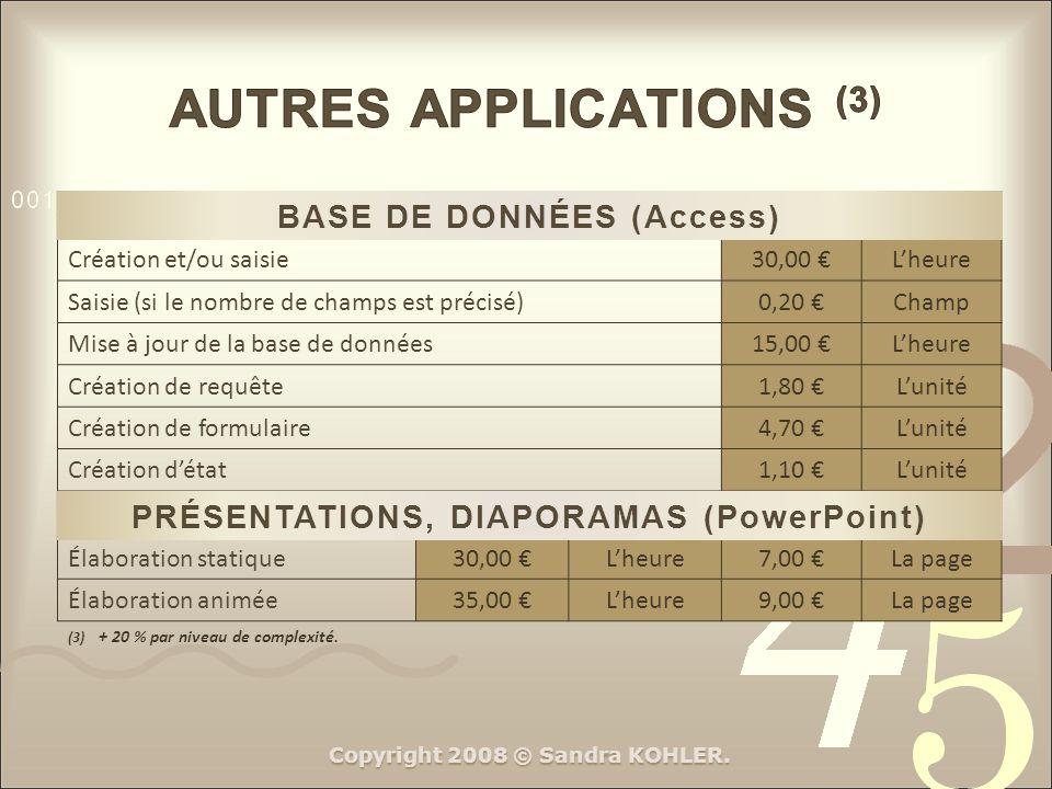 AUTRES APPLICATIONS (3)