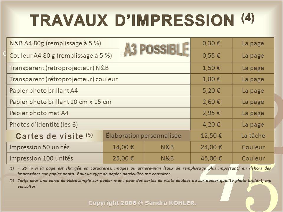 TRAVAUX D'IMPRESSION (4)