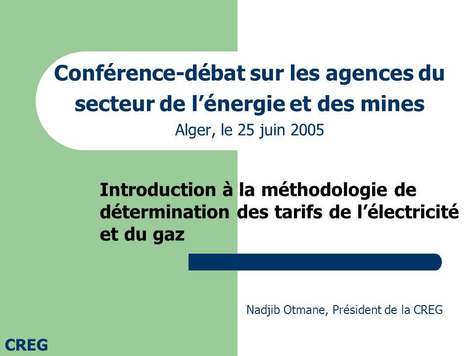 Conférence-débat sur les agences du secteur de l'énergie et des mines Alger, le 25 juin 2005
