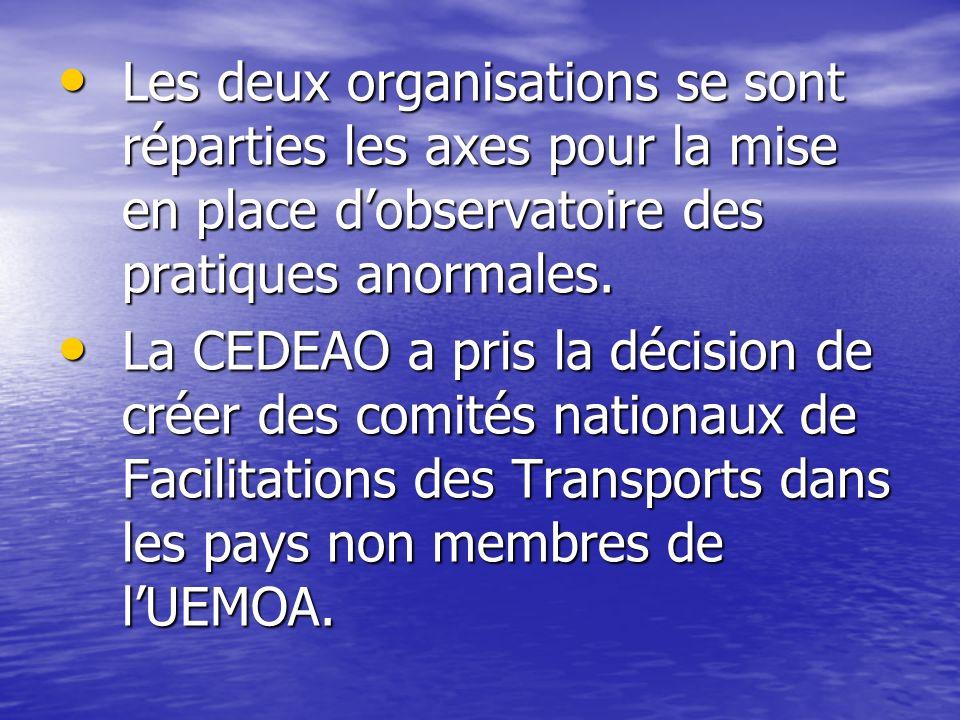 Les deux organisations se sont réparties les axes pour la mise en place d'observatoire des pratiques anormales.