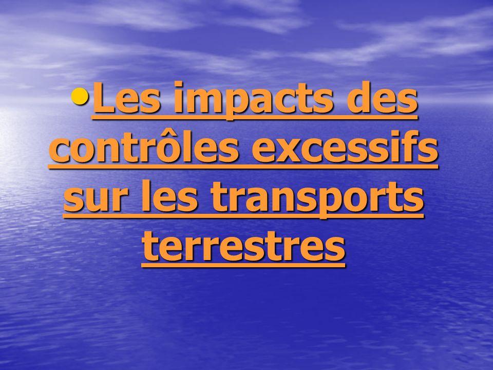 Les impacts des contrôles excessifs sur les transports terrestres