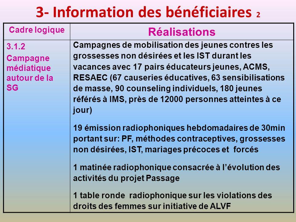 3- Information des bénéficiaires 2