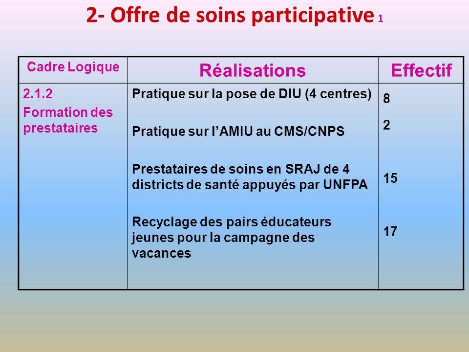 2- Offre de soins participative 1