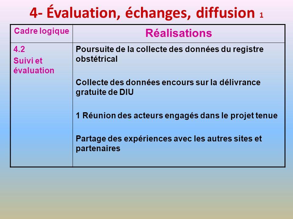 4- Évaluation, échanges, diffusion 1