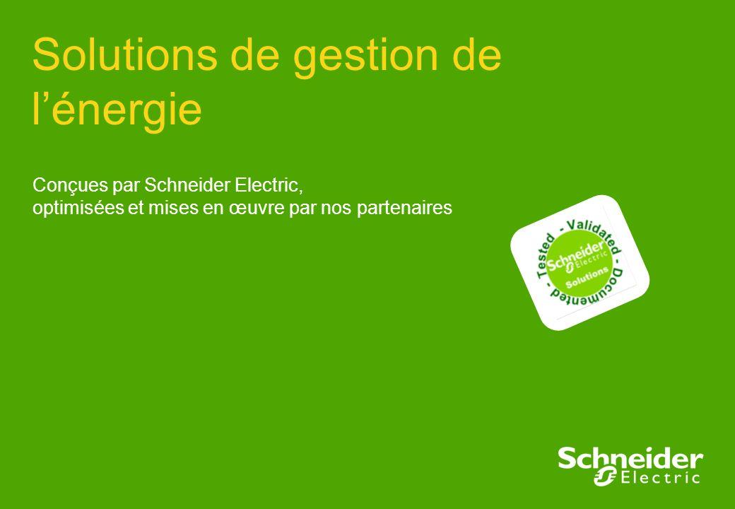 Solutions de gestion de l'énergie