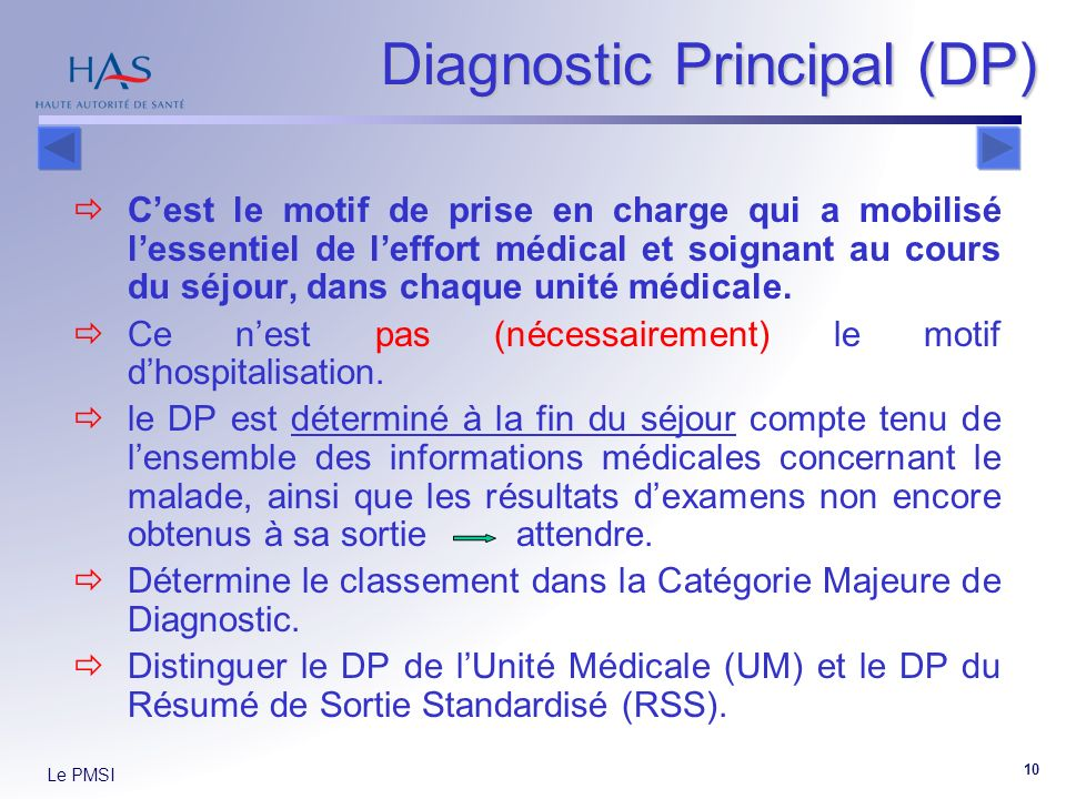 Diagnostic Principal (DP)