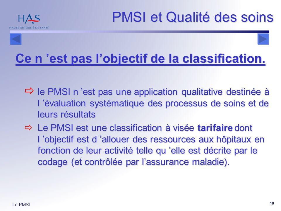 PMSI et Qualité des soins