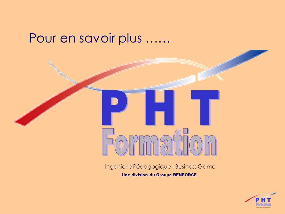 Formation P H T Pour en savoir plus ……