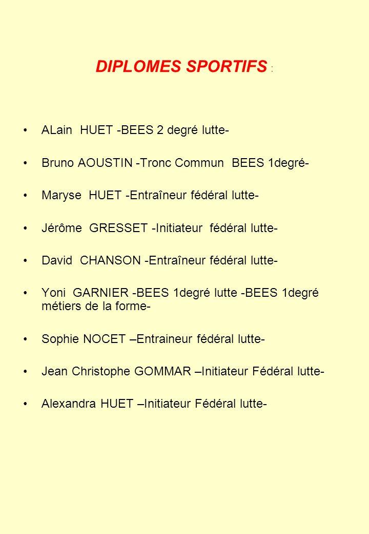 DIPLOMES SPORTIFS : ALain HUET -BEES 2 degré lutte-
