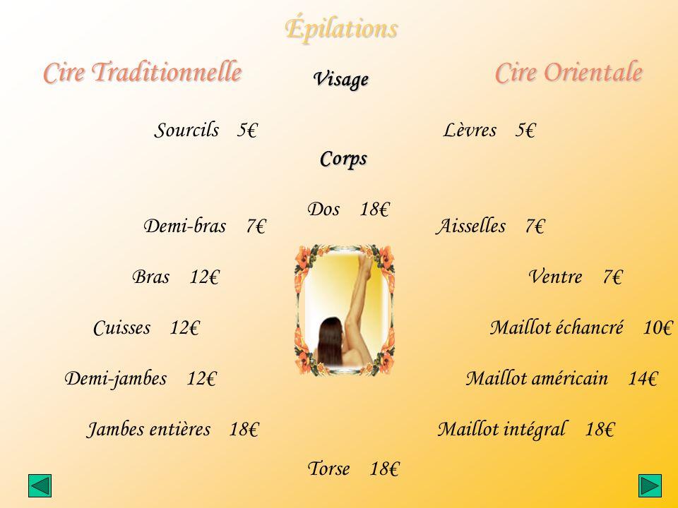 Épilations Cire Traditionnelle Cire Orientale Visage Sourcils 5€