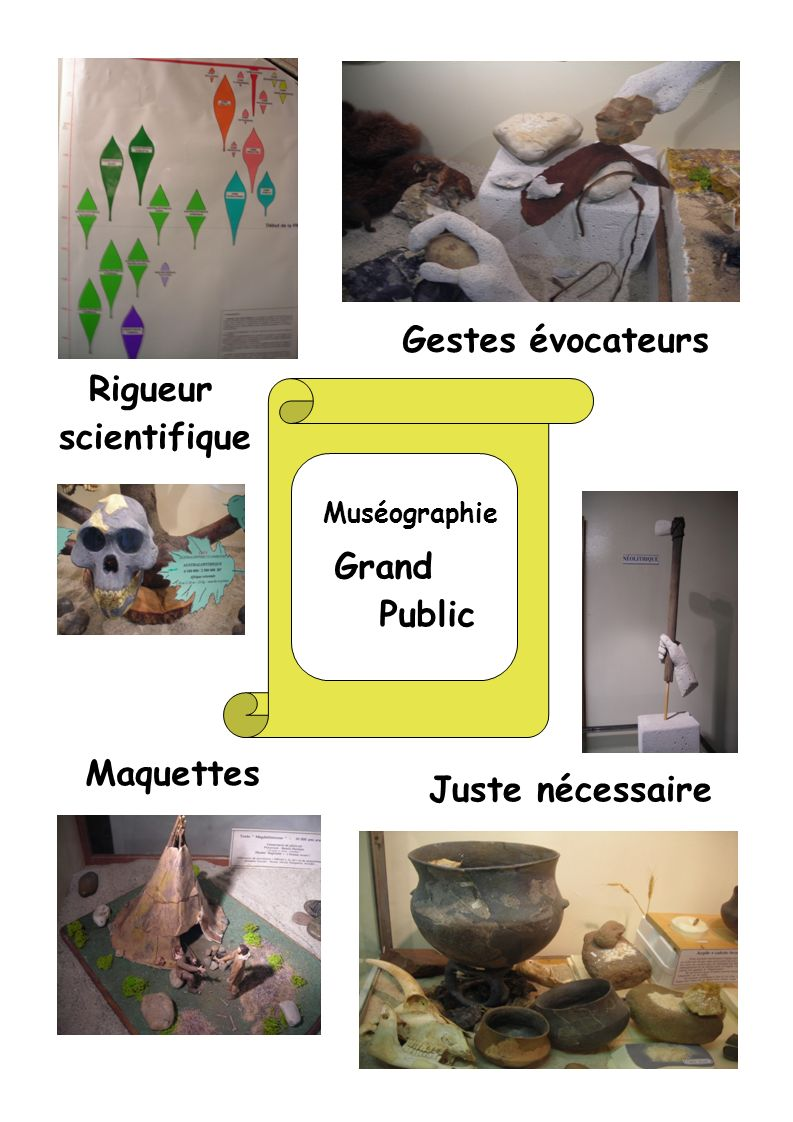 Gestes évocateurs Rigueur scientifique Grand Public Maquettes